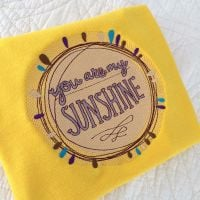 You are my sunshine embroidered children's T shirt