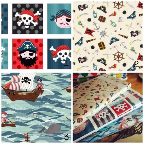 pirate fabric Collage