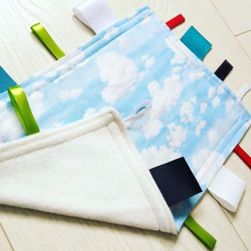 Clouds & sky baby Taggy Blanket