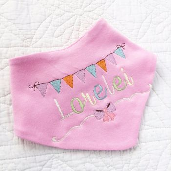Personalised  bandana baby bib