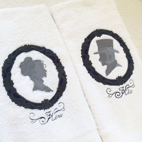 His and Hers wedding hand towels
