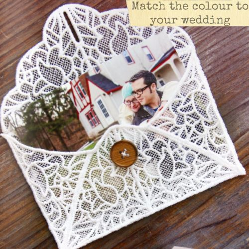 Lace wedding envelope
