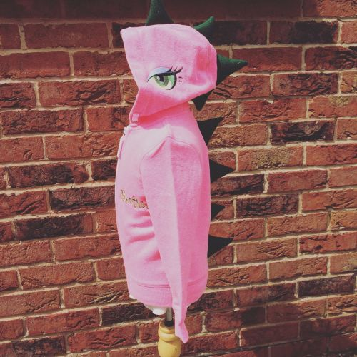 Dinosaur Hoodies hot pink