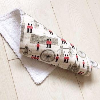 London fabric baby burp cloth