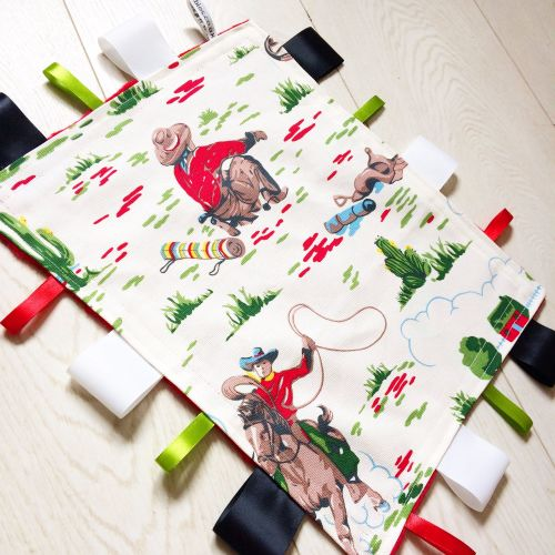 Cath Kidston Taggy Blankets mini cowboy design With Minkee