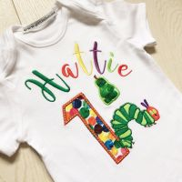 The very hungry caterpillar personalised baby onesie vest