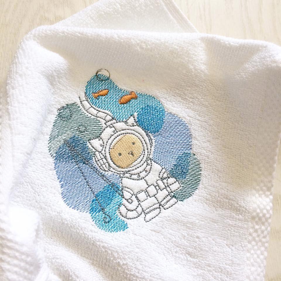 Personalised underwater kitty baby flannel