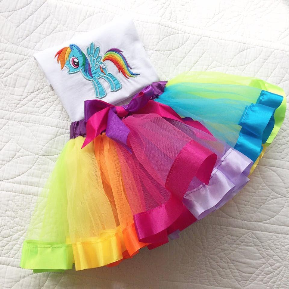 My Little Pony Rainbow Dash tutu and onesie vest set or T shirt