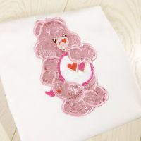 Care Bear Glitter Bear personalised embroidered children's T shirt