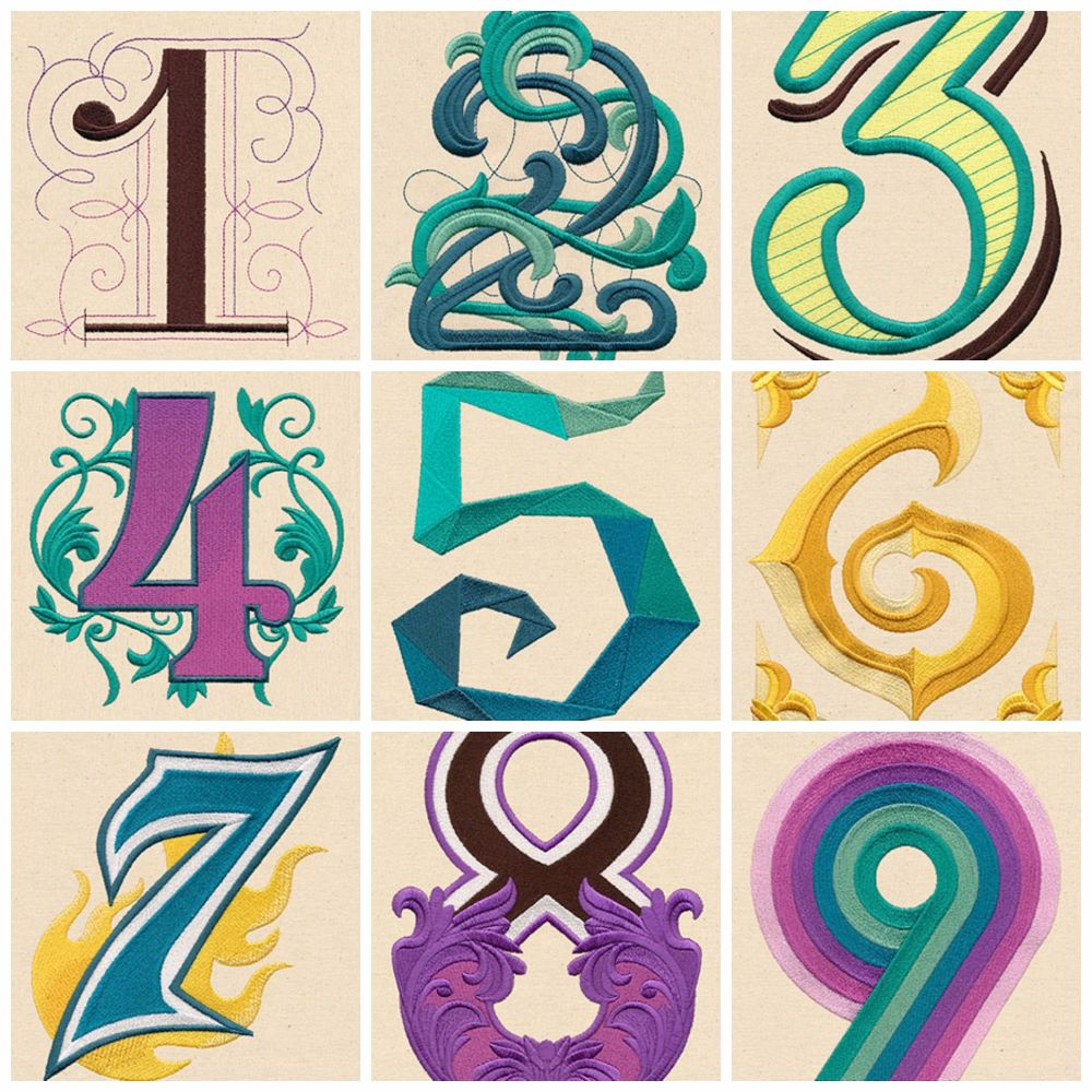 Alphabet number Collage 4