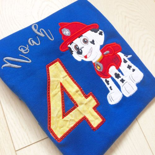 Personalised Paw Patrol T shirt by Jellibabies