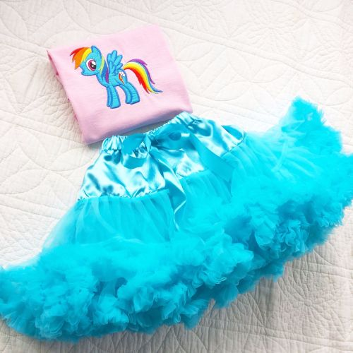 My Little Pony Rainbow Dash tutu and onesie vest set or T shirt