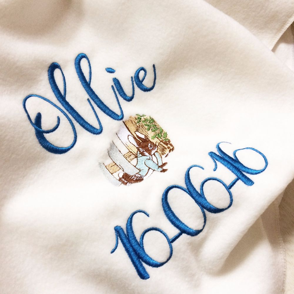 Personalised fleece & cotton knit baby blankets