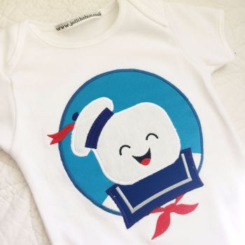 Ghostbusters Stay Puft marshmallow man baby onesie vest