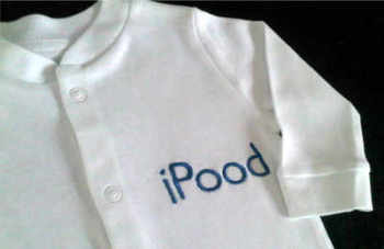 ipood babygrow sleepsuit
