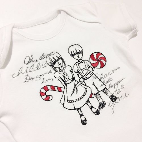 Dark fairytale Hansel and Gretel steampunk gothic baby onesie vest