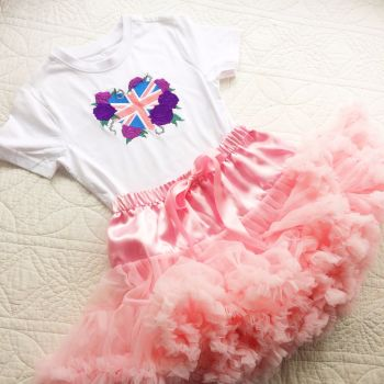 Best of British tutu and onesie vest set or T shirt