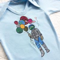 Future astronaut spaceman  babygrow sleepsuit