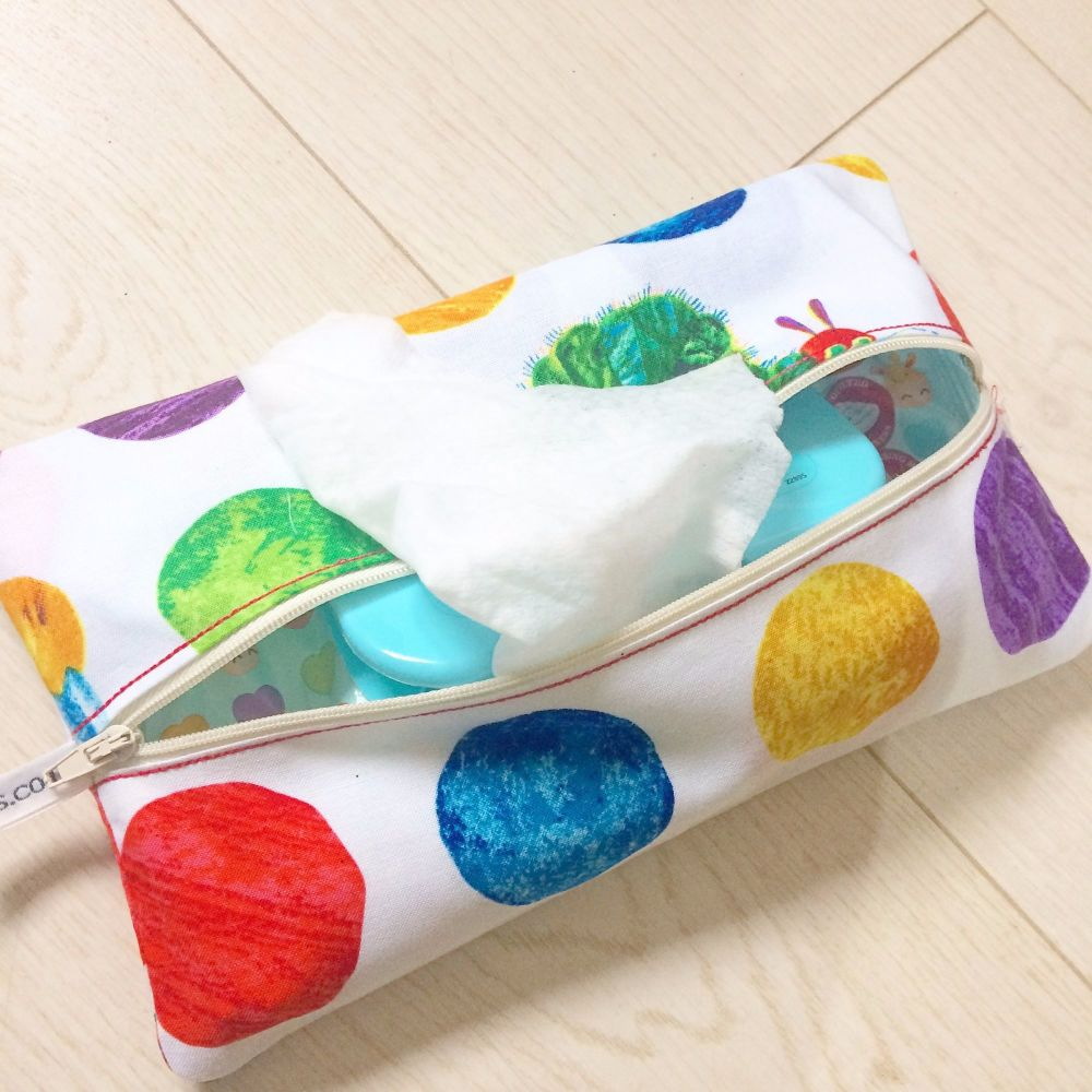 The very hungry caterpillar  wet wipe bag