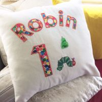 Personalised The very hungry caterpillar cushion