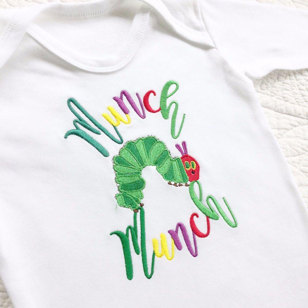 The very hungry caterpillar Munch Munch babygrow sleepsuit
