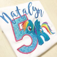 Personalised my little pony rainbow dash T shirt by Jellibabies