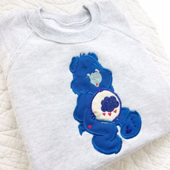 Care Bear Grumpy bear personalised embroidered children's sweatshirt