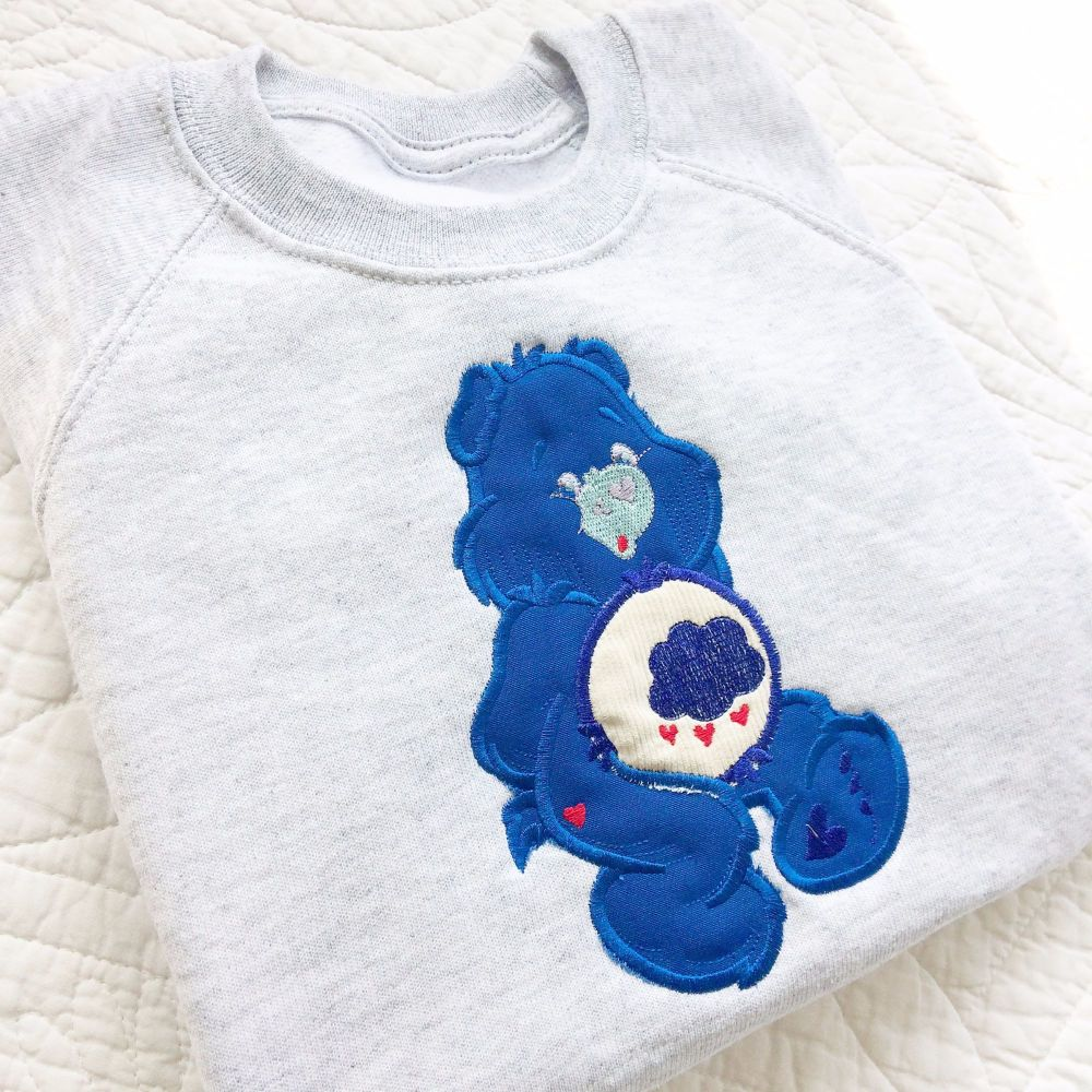 Care Bear Grumpy bear personalised embroidered children's T tshirt