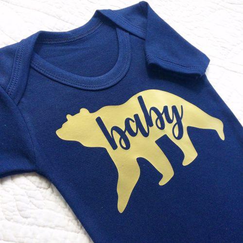 Baby Bear golden baby onesie vest