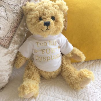 DDH U.K too hip for Dysplasia teddy bear by Jellibabies