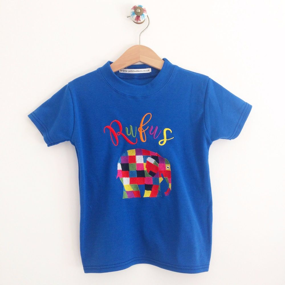 Elmer the patchwork elephant  ADULT  T shirt