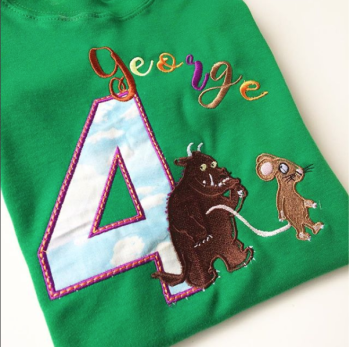 Embroidered and Personalised The gruffalo children's hoodie
