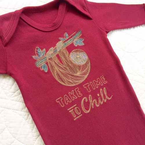 Take time to chill Sloth babygrow sleepsuit