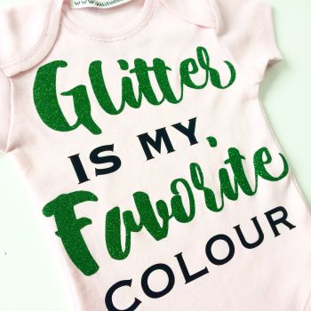 Glitter is my favourite colour by Jellibabies green