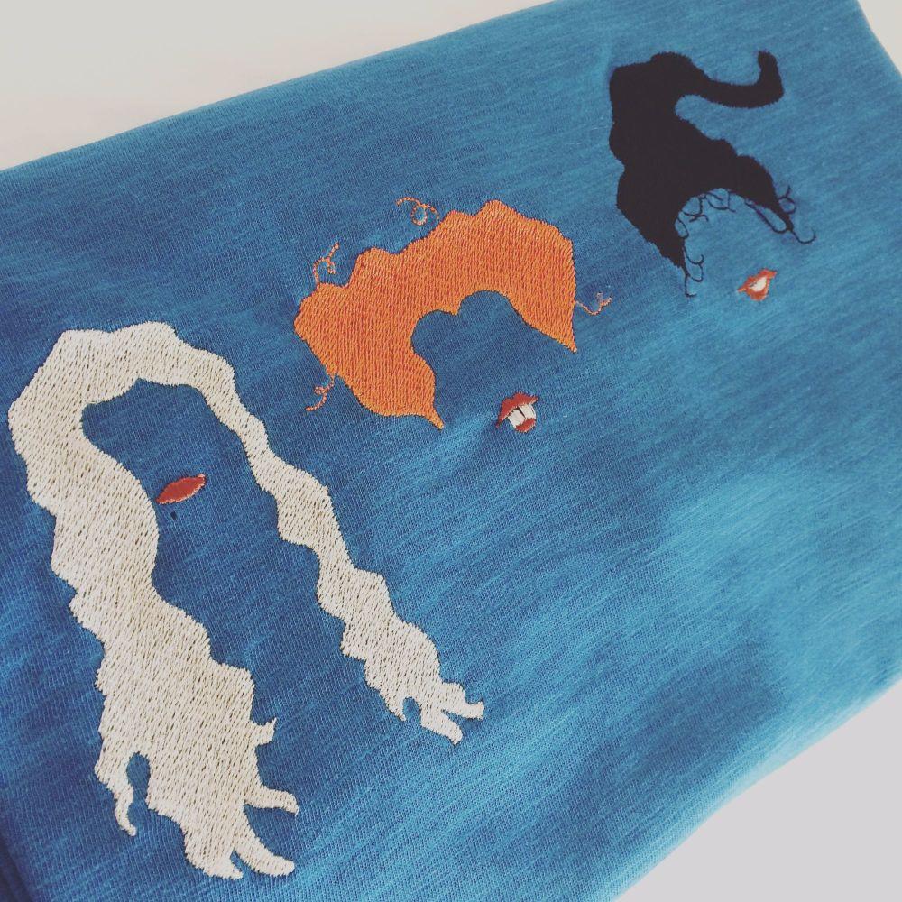 Hocus Pocus embroidered  T shirt