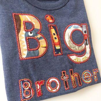 Big brother applique children's  T shirt