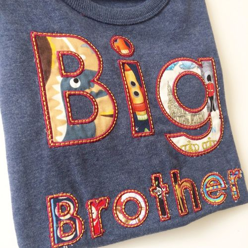 Big brother applique children's  T shirt