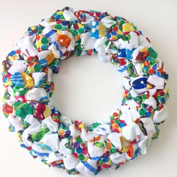 The very hungry caterpillar cotton pom pom wreath