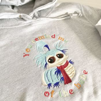 Labyrinth worm inspired You remind me of the babe  adult hoodie