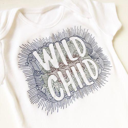 Wild child baby onesie vest