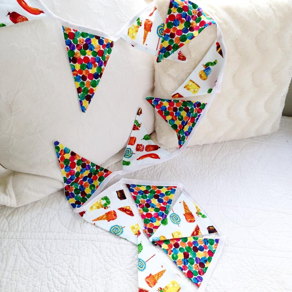 The very hungry caterpillar 3m bunting