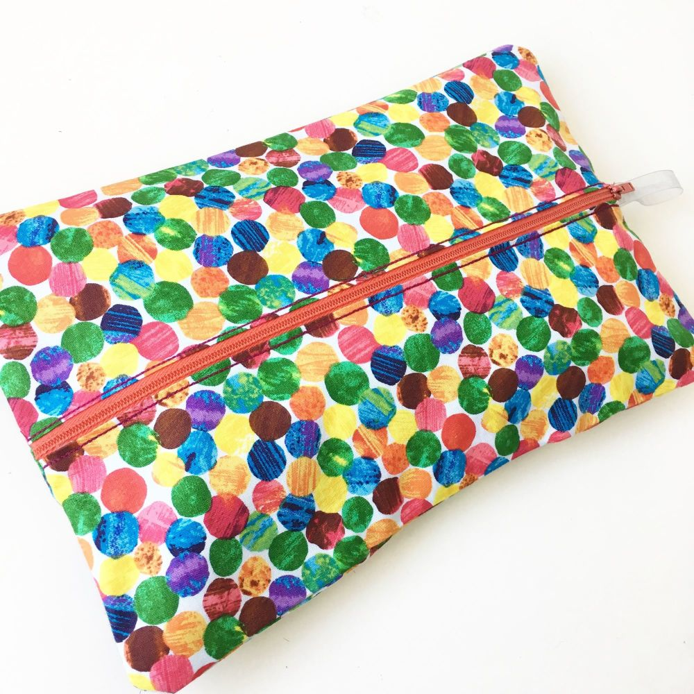 The very hungry caterpillar spot  wet wipe bag