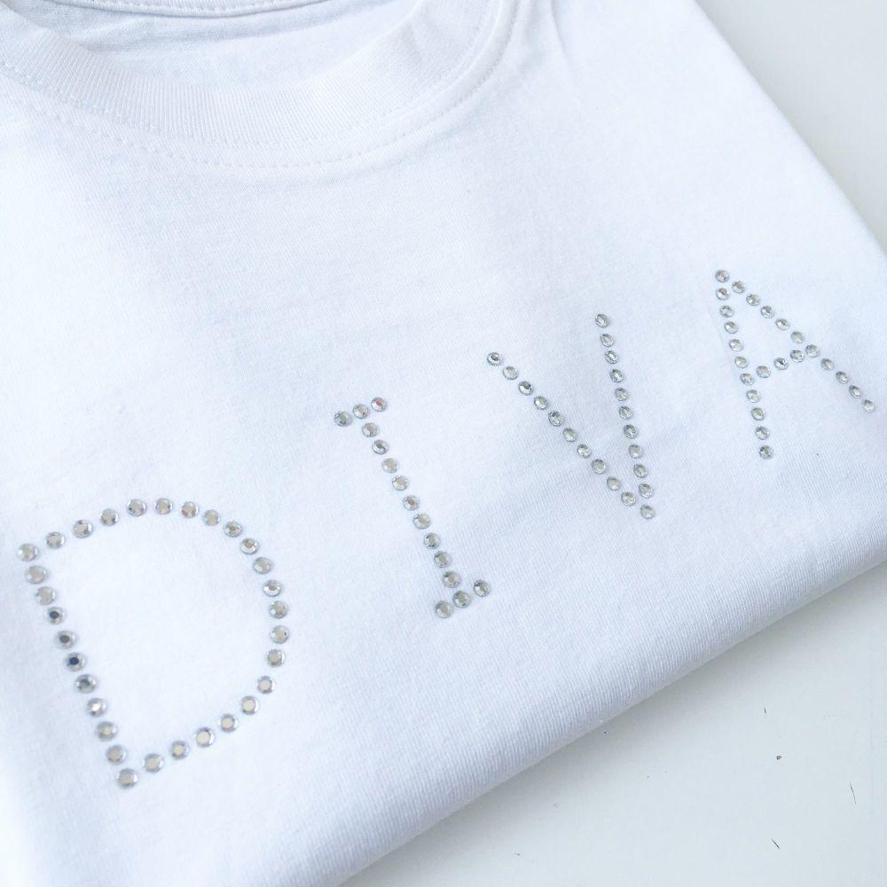 Diva rhinestone T shirt