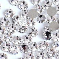 Small-Size-Nail-Art-Rhinestone-Crystal-Clear-Color-SS3-SS50-Flatback-Non-Ho
