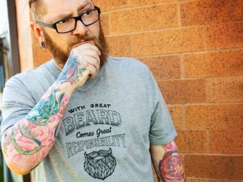 With great beard comes great responsibilty fathers day T shirt