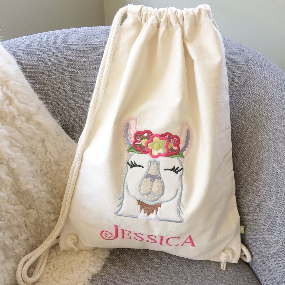 Fully embroidered personalised steampunk gunslinger drawstring bag