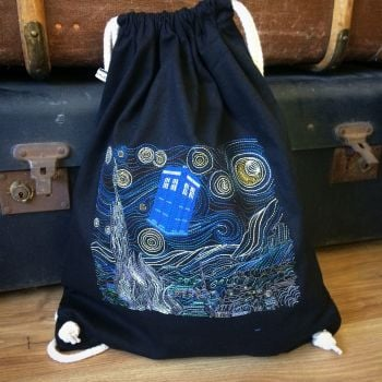 Doctor Who Starry Night drawstring bag