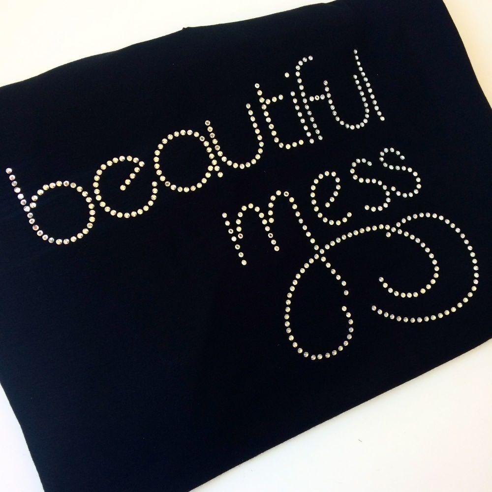 Beautiful Mess rhinestone T shirt