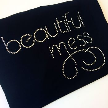 Beautiful Mess rhinestone T shirt