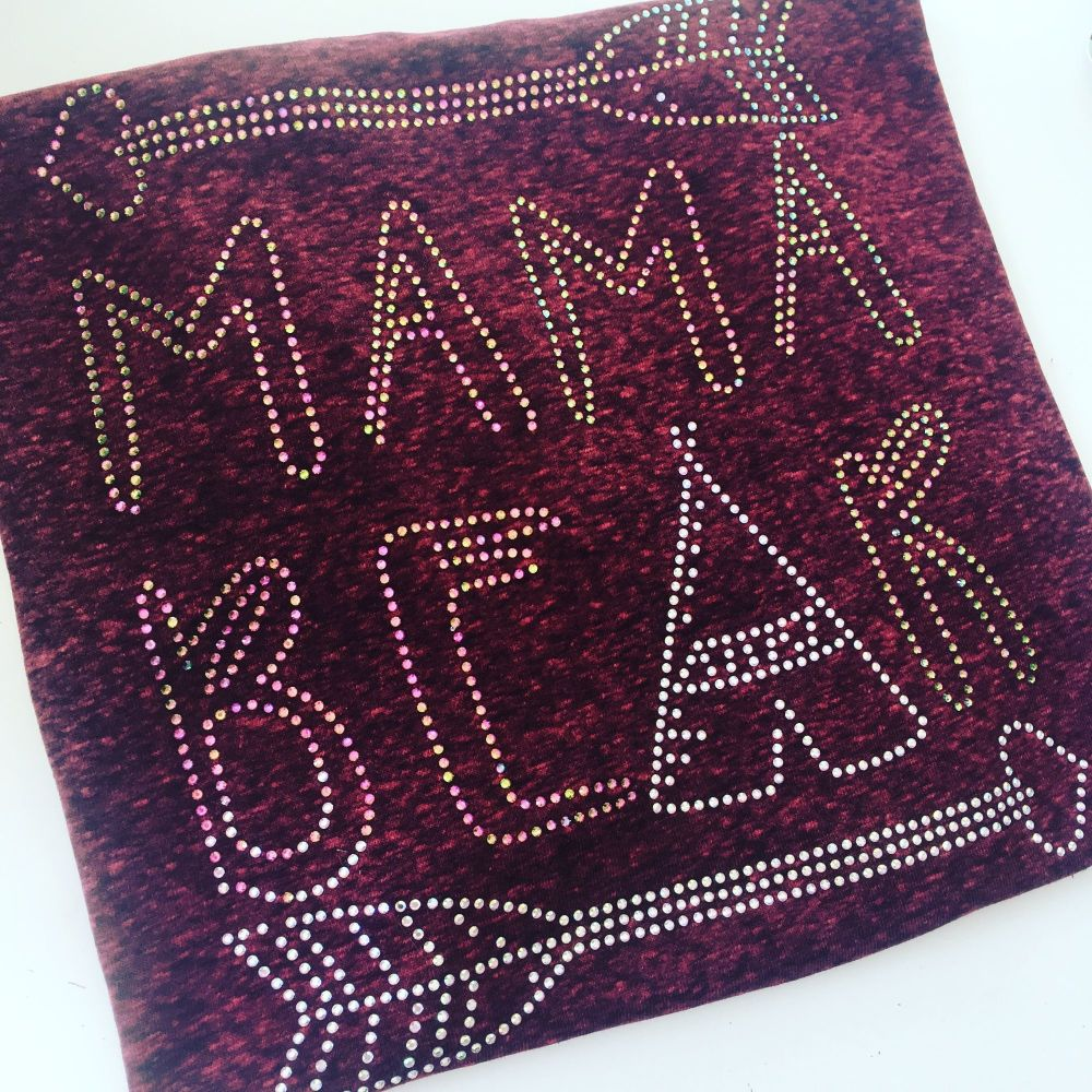Rhinestone mamma bear for Sarah adults T shirt